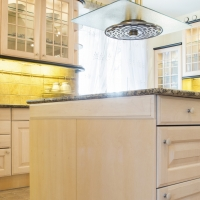 Beauty and bright kitchen interior